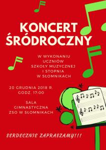 Koncert śródroczny uczniów Szkoły Muzycznej I stopnia w Słomnikach